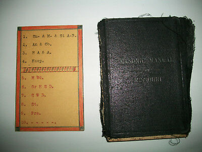 1909 Grand Lodge AF & AM Masonic Manual of Missouri  112 Pages Very Used