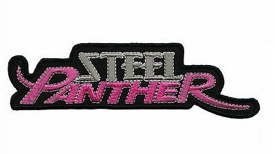 """STEEL PANTHER Heavy Metal Embroidered Iron On Patch Badge 5.5""""/14m"""