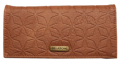 "New + Tag Billabong ""baltic Bay"" Ladies / Girls Tri-Fold Wallet / Purse Tan Bnwt"