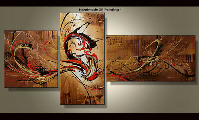 Framed Large Wall Art Handmade Canvas Modern Abstract Oil Painting Decor Abs227