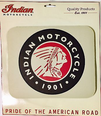 "INDIAN MOTORCYCLE MOUSE PAD ~ ""INDIAN SINCE 1901"" LOGO ~ 9 1/4"" x 7 3/4"" x 1/8"""