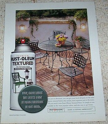 2001 ad page - Rust-Oleum spray paint Print Advertising ADVERT clipping page