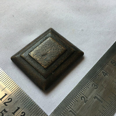 An Old or antique square shaped Opium Bell Metal Bronze Scales Weight