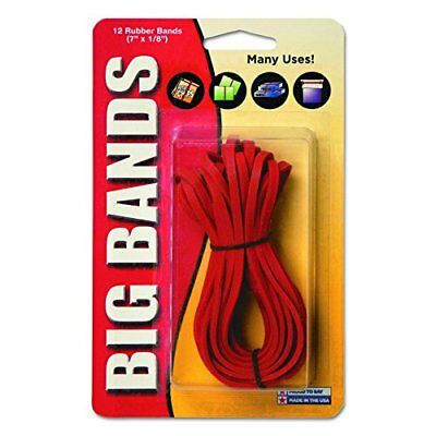 Alliance Rubber Big Rubber Bands 12 Pack 7-Inchx.13-Inch Red 00700