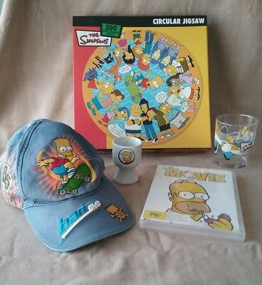The Simpsons Bart Simpson jigsaw puzzle, hat, Nutella glass, egg cup, DVD movie
