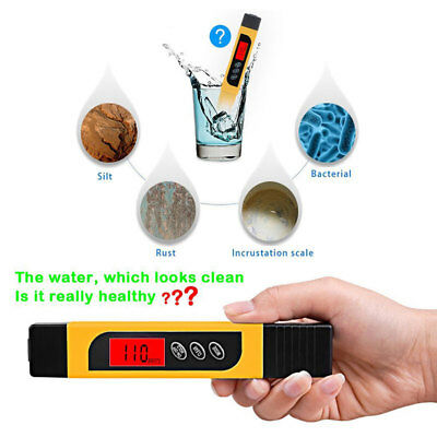 TDS Water Quality Tester Range 0-9999ppm Meter for Testing Water Purity Hardness