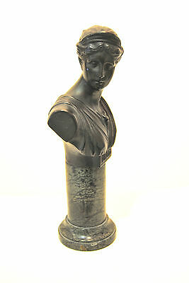 DIANA Art Deco statuette a buste on marble Absolutely stunning