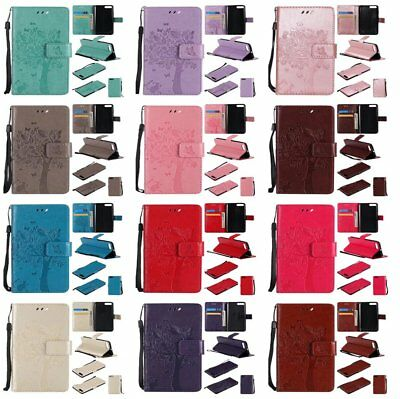 Stand Leather Cat Tree Flip Case Cover For Samsung S6/S7/S8 Plus Note 4/7/8 KU