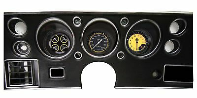 1970-1972 Chevy Chevelle Direct Fit Gauge Auto Cross Yellow CV70AXY