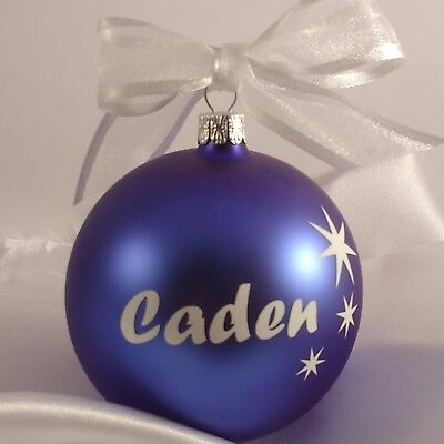 European Glass Personalized Christmas baubles in display box $32 top quality.