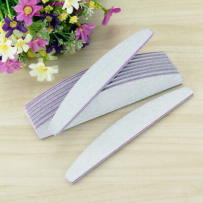 10pc NAIL FILES DOUBLE SIDED MULTI LISTING 240/180/150/100 GRIT ACRYLIC/GEL NAIL
