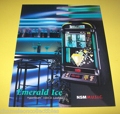 EMERALD ICE WALL By NSM 1995 ORIGINAL NOS JUKEBOX PHONOGRAPH FLYER BROCHURE