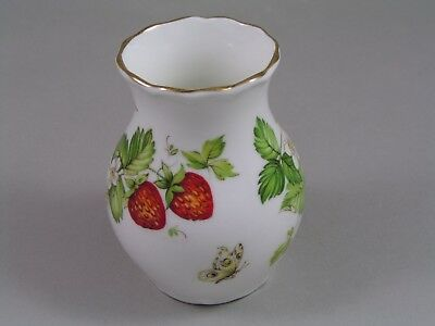 Queens Rosina China Virginia Strawberry Small Vase.