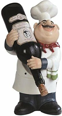 "George S. Chen Imports SS-G-65009 Chef Wine Holder 14.25"" Figurines Home Décor"