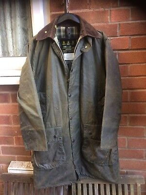 Barbour A200 Border wax Country Desinger jacket size small medium