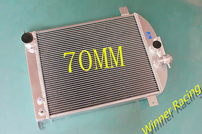 "70MM 25.5"" High Aluminum Radiator Ford Truck /Pickup Ford 302 V8 AUTO 1942-1947"