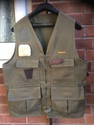 Barbour vintage shooting Fishing Country Gilet Bodywarmer jacket size Small Med