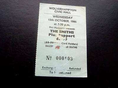 The Smiths  ticket Wolverhampton Civic Hall 15/10/86