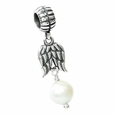 34a7aac4c Authentic Pandora Charm Guardian ANGEL WINGS DANGLE Pink 791737CZ 925 Silver  USA