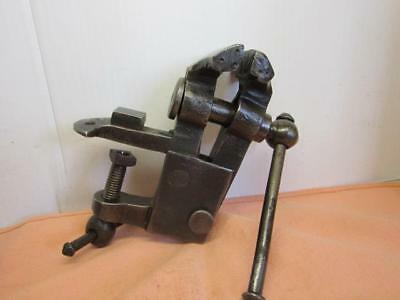 Clamp-On Bench Vise - Cast Iron - blacksmitting Jaws - Vintage Small Bench Vise