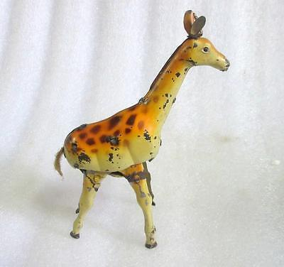 Vintage Old Collectible Rare African Giraffe Animal Wind Up Litho Tin Toy Japan?