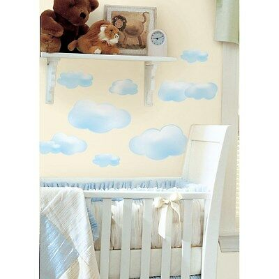 CLOUDS Wall STICKERS 19 Blue White Cloud Decals Nursery Decoration Room Decor
