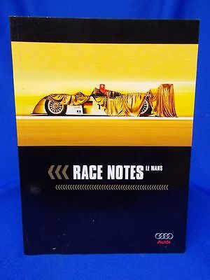 830)  original AUDI Sports Marketing Race Notes Le Mans Touren Notizbuch