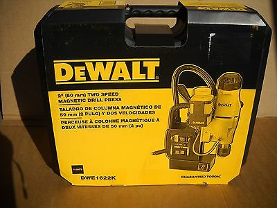 "DeWalt DWE1622K 2"" 2-Speed Magnetic Drill Press Kit 10 Amp NEW"