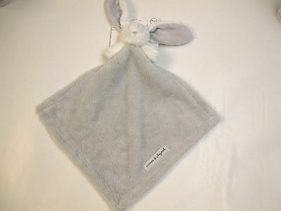 NWT Blankets & Beyond Grey And White Lovey Security Blanket Nunu Bunny Fleece