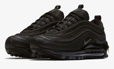 official photos bedd9 5a70e NEW WOMEN'S NIKE Air Max 97 Triple Black 20th Anniversary 921733-001 Sz 10  US