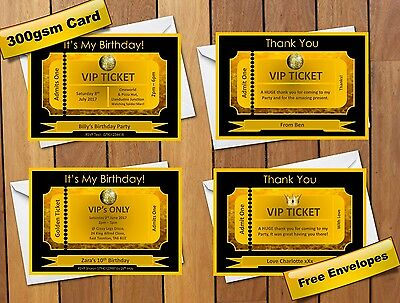 Personalised vip golden ticket birthday party invitations in gold personalised vip golden ticket birthday party invitations in gold black filmwisefo Images