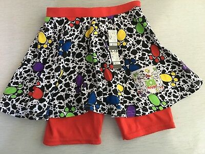 Girls Deadstock Nwt Disney 101 Dalmations Skirt W/ Attached Bike Shorts 80s/90s