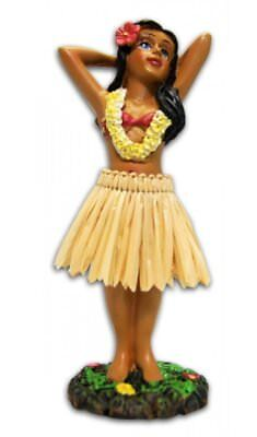 Classic Vintage Hawaiian Dashboard Bobble Hula Doll Dancing Girl Figurine 4.4