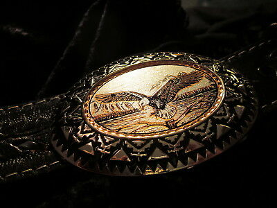 American Eagle Belt Buckle, Handmade/Handcrafted Silver/Copper Bonus:2.999 Bars