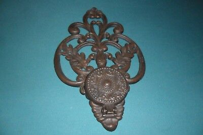 "Vintage Cast Iron Wall Candle/plant Holder 16"" X 9-1/2"""