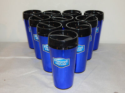 Lot of 9 Maxwell House Coffee Promotional 16 Ounce Plastic Cups By Vision