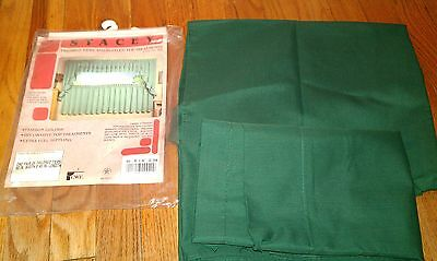 pair of vintage Emerald green curtain panels 28 1/2 x 45 inches Pre-Owned used