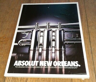 Vintage 1994 Absolut Vodka Distillery ad Ready To Be Framed RARE New Orleans LA