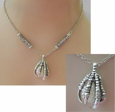 Silver Dragon Claw Pendant Necklace Jewelry Handmade NEW adjustable Accessories