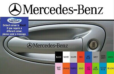 For Mercedes-Benz-  4 x DOOR HANDLE - CAR DECALS STICKERS ADHESIVES - 95mm long