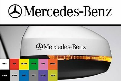For Mercedes-Benz - 2 x Side Wing Mirror - CAR DECAL STICKER AMG - 95mm long