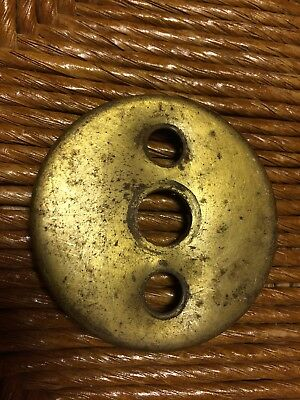 Vintage Brass Push Button Light Switch Plate Cover  ???