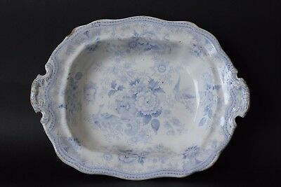 Antique Burgess & Leigh Asiatic Pheasants Serving dish. Blue & White.