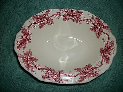 Staffordshire England ENGLISH OAKS ALFRED MEAKIN RARE!! RED SERVING BOWL MINT!!