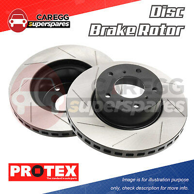 2 Slotted Front Disc Brake Rotors PBR Upgrade For FORD Falcon/Fairmont BF FG LH