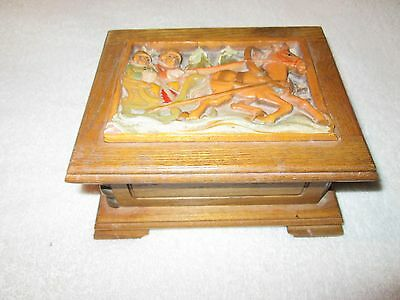 Vintage Wooden Reuge Music Box Doctor Zhivago Lara's Theme Switzerland Works