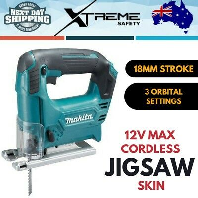 New Makita 12V Max Cordless Jigsaw Skin Only, 18mm stroke Compact Jig Saws