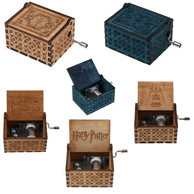 STAR WARS/Harry Potter/Game of Thrones Engraved Wooden Music Box Crafts Gift Toy