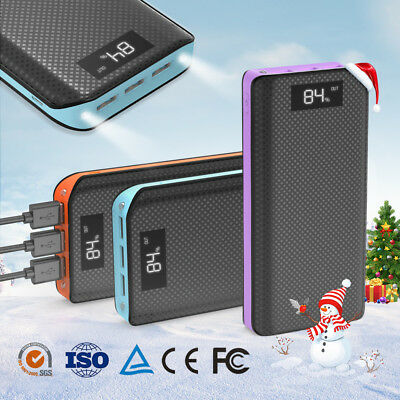 300000mAh Solar Power Bank Charger USB Tragbare Externer Batterie Ladegrät Handy