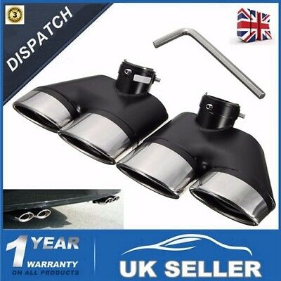 Pair Exhaust Muffler Pipe Dual Tips For Mercedes-Benz W220 S430 S500 01-05 AMG
